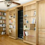 Murphy Bed Library Bed - Guest Bed Solution - SmartSpaces.com - Hidden Bed Opening