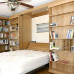 Murphy Bed Library Bed - Guest Bed Solution - SmartSpaces.com - Hidden Bed Open
