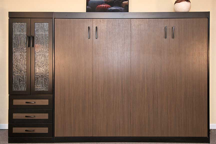 Contemporary Murphy Bed Designs, Murphy Bed with Closet Cabinet, Drawers