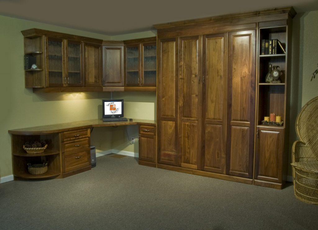 Murphy Bed Office Turned Guest Bedroom - Guest Bed Solution - SmartSpaces.com - Hidden Bed