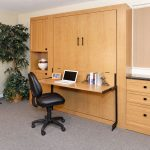 Murphy Bed with Studio Desk, Cabinets, Drawers, Fold-down Desk