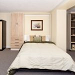 Murphy Wall Bed with Cabinet, Drawers, Fold-Down Table--perfect for craft room