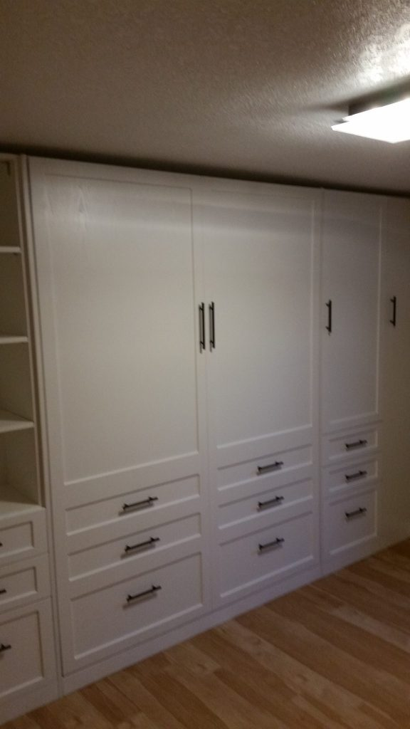 Murphy Bed with Closet Cabinet