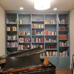 Painted Maple Bookcases
